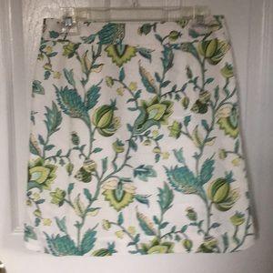 LOFT Skirts - LOFT FULLY LINED FLORAL SKIRT